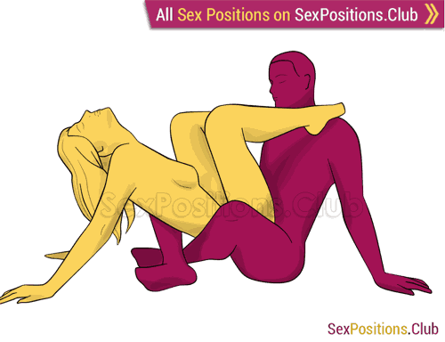 Sex position #399 - Sweet sin. (anal sex, sitting). Kamasutra - Photo, picture, image