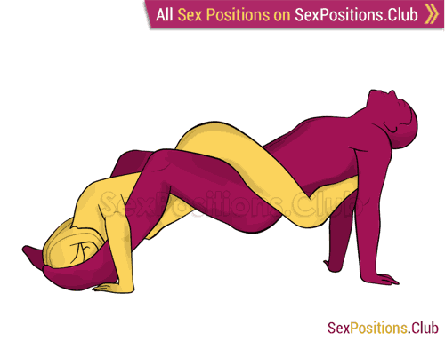 Sex position #453 - Tangle. (woman on top, reverse). Kamasutra - Photo, picture, image
