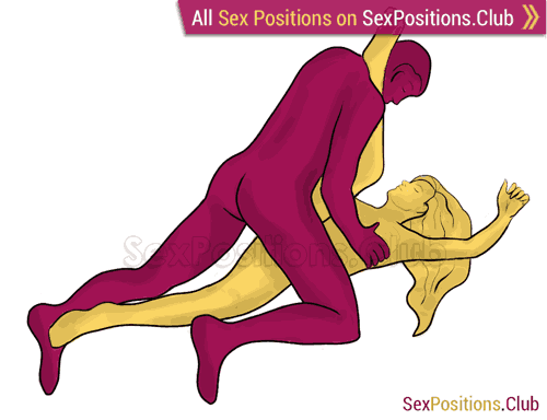 Sex position #268 - Backstroke. (man on top, kneeling). Kamasutra - Photo, picture, image