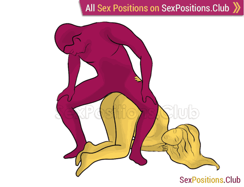 Sex position #295 - Iron throne. (doggy style, from behind, rear entry, reverse, man on top, standing). Kamasutra - Photo, picture, image