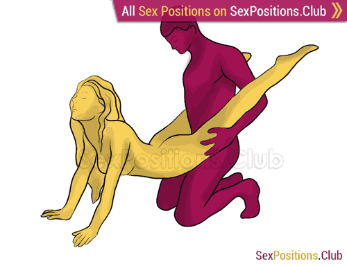 Sex position #254 - Asteroid. (from behind, rear entry, kneeling). Kamasutra - Photo, picture, image