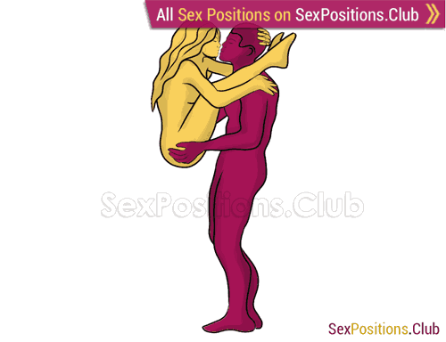 Sex position #297 - Apollo. (face to face, standing). Kamasutra - Photo, picture, image