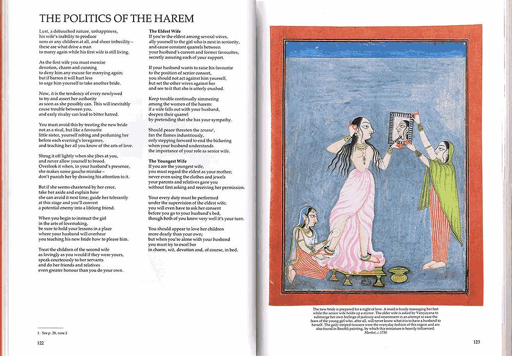 The Love Teachings of Kama Sutra. Page 122-123 (Harem)