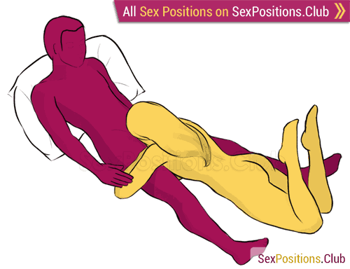 Sex position #12 - Whisper. (blowjob, lying down, oral sex). Kamasutra - Photo, picture, image