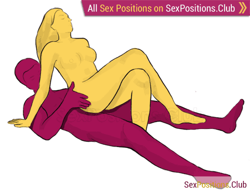 Sex position #15 - Swing. (cowgirl, from behind, woman on top). Kamasutra - Photo, picture, image