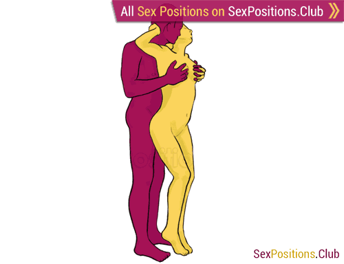 Sex position #7 - Candle. (from behind, rear entry, standing). Kamasutra - Photo, picture, image