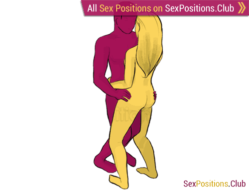 Sex position #9 - Disco. (face to face, standing). Kamasutra - Photo, picture, image
