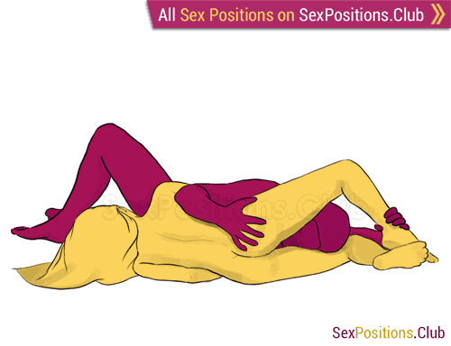 Sex position #85 - Scorpio. (69 sex position, lying down, oral sex). Kamasutra - Photo, picture, image