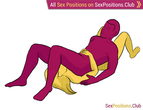 Sex position #171 - Mexican Halloween. (blowjob, lying down, man on top, oral sex). Kamasutra - Photo, picture, image