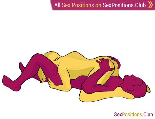 Sex position #182 - Pendant. (69 sex position, blowjob, lying down, oral sex, woman on top). Kamasutra - Photo, picture, image