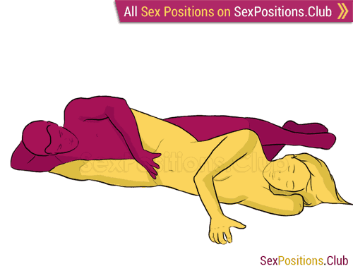 Sex position #183 - Tamer. (from behind, rear entry, reverse, sideways). Kamasutra - Photo, picture, image