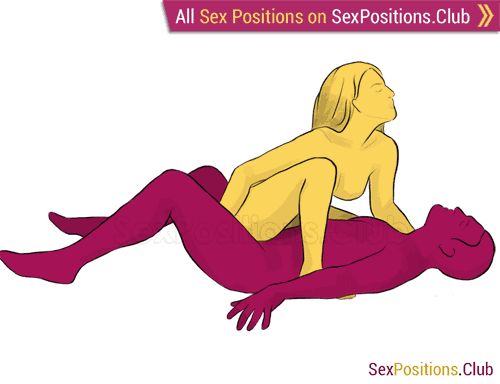 Sex position #40 - Tigress. (cowgirl, face to face, woman on top). Kamasutra - Photo, picture, image