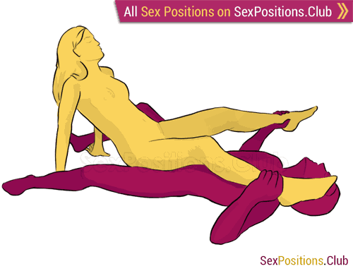 Sex position #137 - Starfish. (cowgirl, reverse, woman on top). Kamasutra - Photo, picture, image