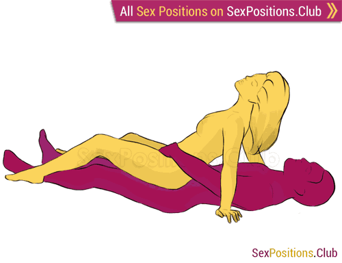 Sex position #102 - Libido. (cowgirl, from behind, woman on top). Kamasutra - Photo, picture, image
