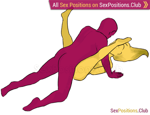 Sex position #55 - Spread Eagle. (face to face, lying down, man on top). Kamasutra - Photo, picture, image