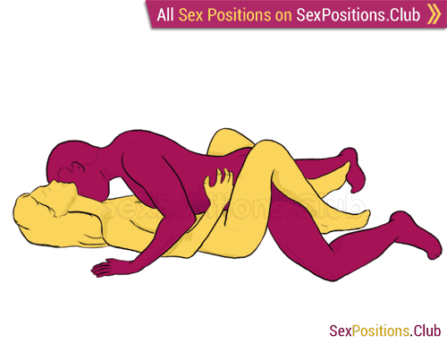 Sex position #67 - Missionary. (face to face, lying down, man on top). Kamasutra - Photo, picture, image