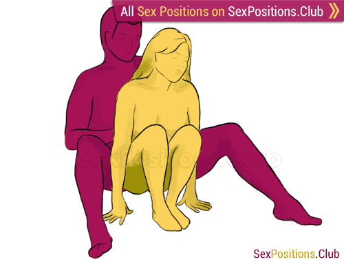 Sex position #176 - Iron. (from behind, rear entry, sitting). Kamasutra - Photo, picture, image