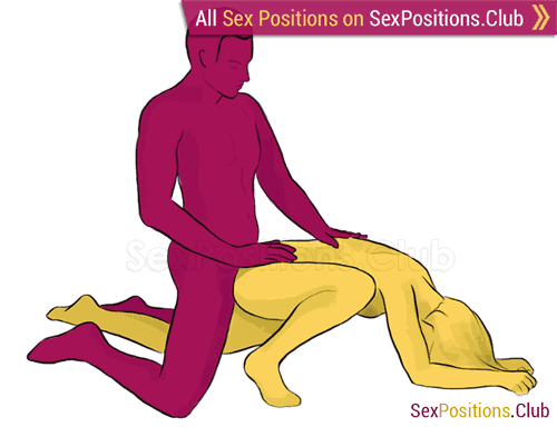 Sex position #43 - Submissive. (doggy style, from behind, kneeling, rear entry). Kamasutra - Photo, picture, image