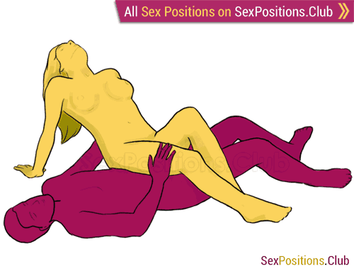 Sex position #32 - Ecstasy. (criss cross, woman on top). Kamasutra - Photo, picture, image