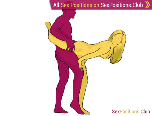 Sex position #106 - Dolphin. (from behind, rear entry, standing). Kamasutra - Photo, picture, image