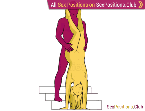 Sex position #178 - Poplar. (from behind, reverse, standing). Kamasutra - Photo, picture, image