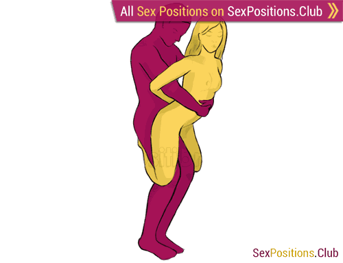 Sex position #70 - Mermaid. (from behind, rear entry, standing). Kamasutra - Photo, picture, image