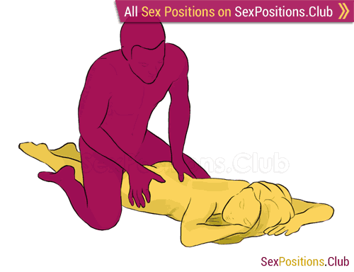 Sex position #155 - Jockey. (from behind, man on top, rear entry). Kamasutra - Photo, picture, image