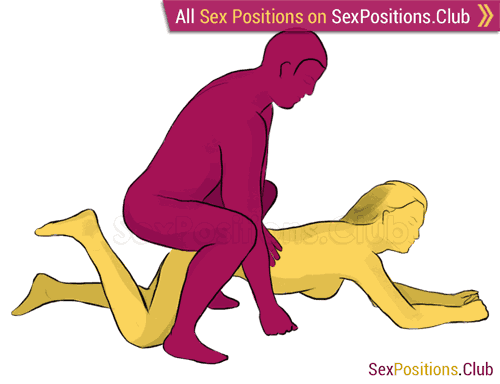 Sex position #190 - Cowboy. (doggy style, from behind, man on top, rear entry). Kamasutra - Photo, picture, image