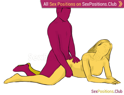 Sex position #47 - Magic Mountain. (from behind, kneeling, rear entry). Kamasutra - Photo, picture, image