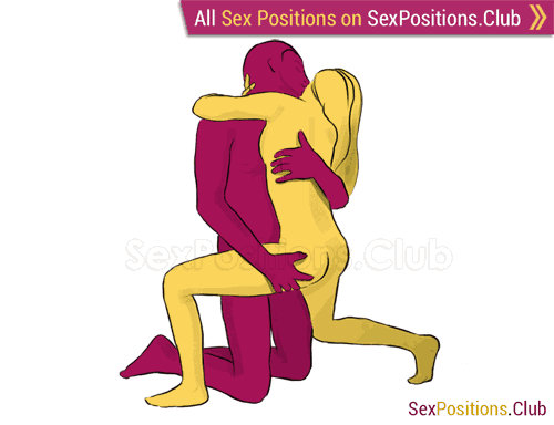 Sex position #168 - Jellyfish. (face to face, kneeling, standing). Kamasutra - Photo, picture, image