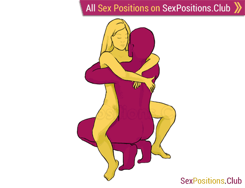 Sex position #191 - Liana. (face to face, sitting, woman on top). Kamasutra - Photo, picture, image