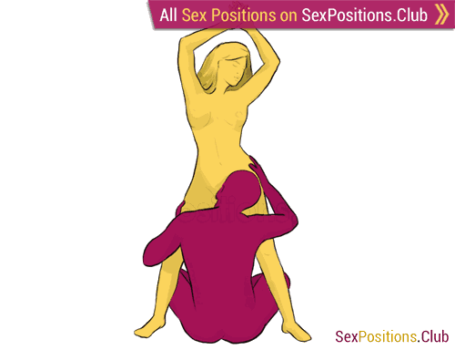 Sex position #212 - Virgo. (cunnilingus, oral sex, standing). Kamasutra - Photo, picture, image