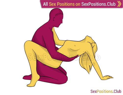 Sex position #215 - Cradle. (face to face, sitting, woman on top). Kamasutra - Photo, picture, image