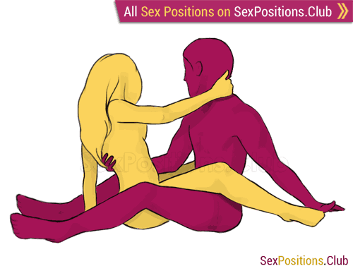 Sex position #242 - Gemini. (face to face, sitting). Kamasutra - Photo, picture, image