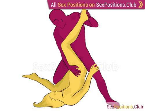 Sex position #207 - Piledriver. (man on top, reverse, standing). Kamasutra - Photo, picture, image