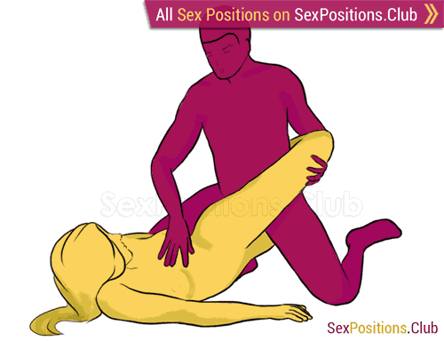 Sex position #218 - Corkscrew. (from behind, kneeling, rear entry). Kamasutra - Photo, picture, image