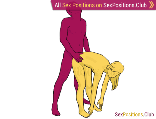 Sex position #200 - Taurus. (doggy style, from behind, rear entry, standing). Kamasutra - Photo, picture, image