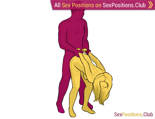 Sex position #210 - Prison Guard. (doggy style, from behind, rear entry, standing). Kamasutra - Photo, picture, image