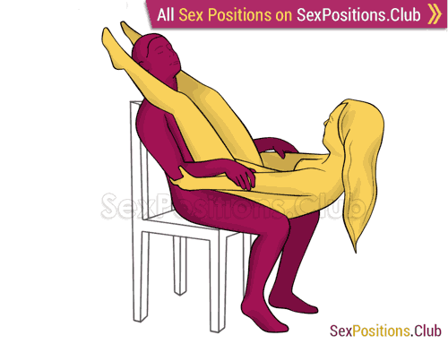 Sex position #255 - Rocking chair. (right angle, sitting). Kamasutra - Photo, picture, image