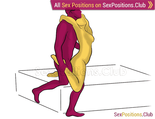 Sex position #292 - Necktie. (from behind, rear entry, standing). Kamasutra - Photo, picture, image