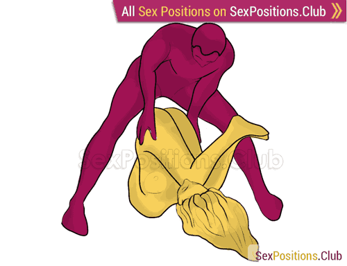Sex position #300 - Pleasure Bible. (anal sex, reverse, man on top, standing). Kamasutra - Photo, picture, image