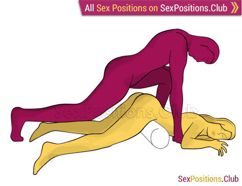 Sex position #264 - Sleeping beauty. (anal sex, from behind, rear entry, man on top). Kamasutra - Photo, picture, image