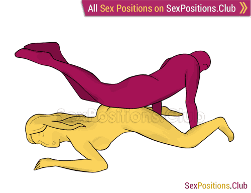 Sex position #289 - X factor. (from behind, rear entry, reverse, man on top). Kamasutra - Photo, picture, image