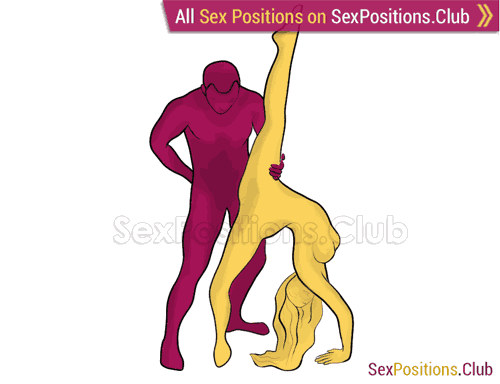 Sex position #270 - Giraffe. (reverse, standing). Kamasutra - Photo, picture, image